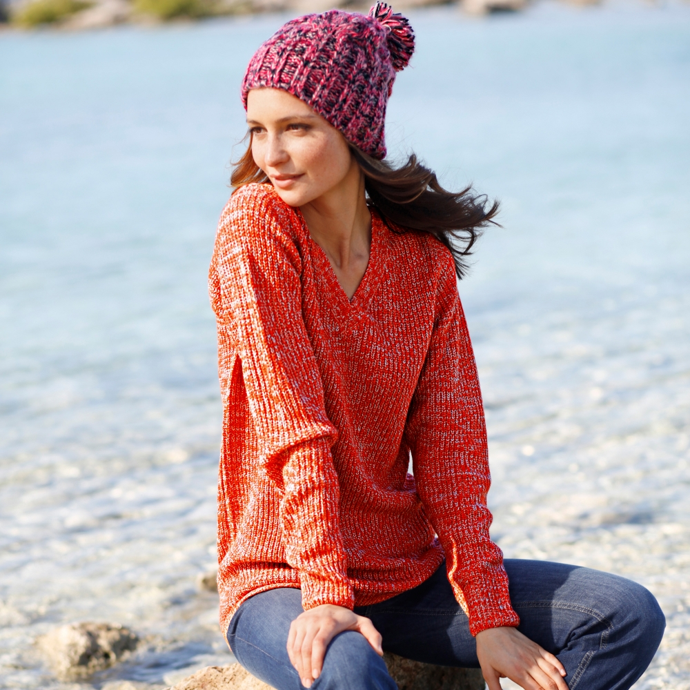 Pull Maille Anglaise Femme Pull Col v Maille Anglaise