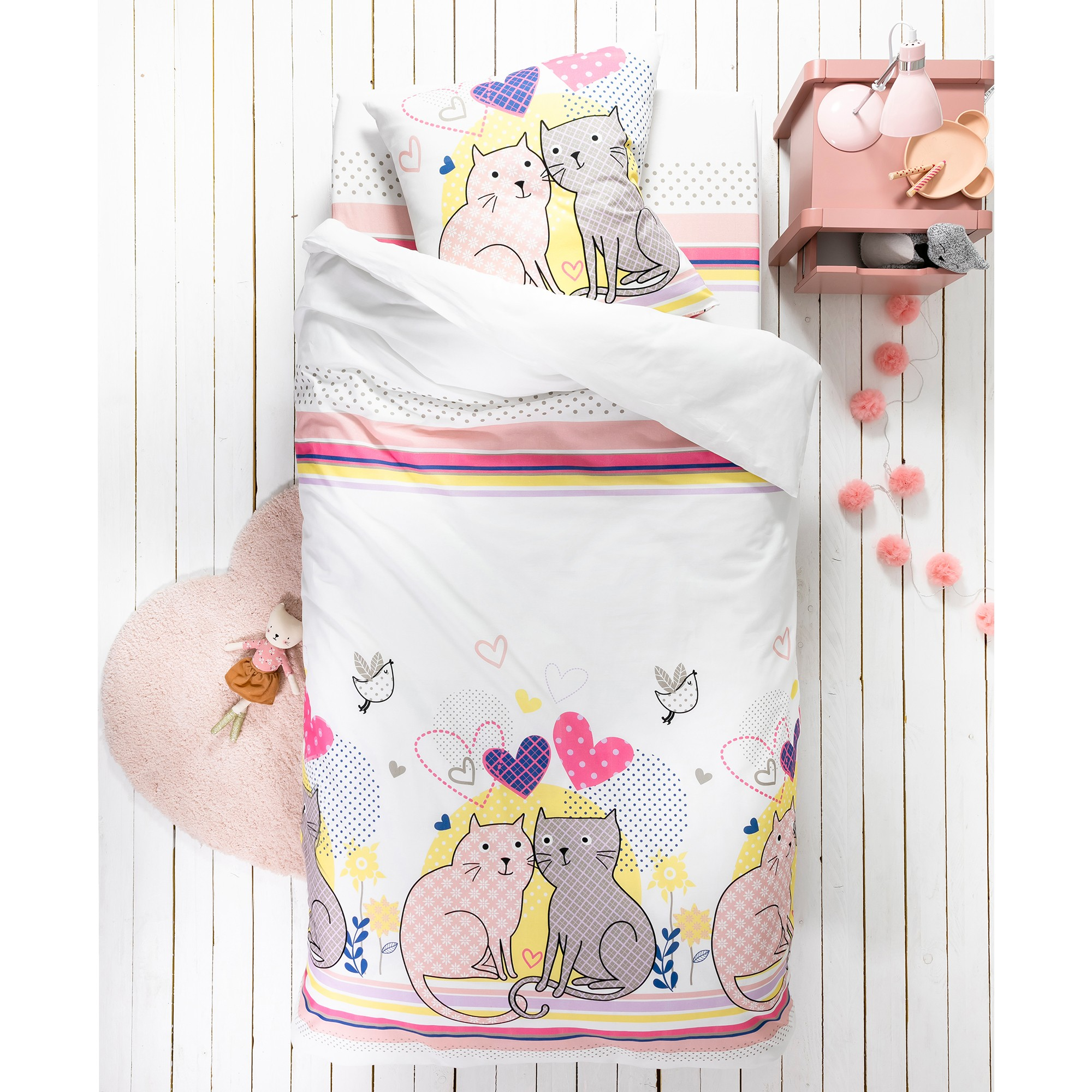 linge de lit bulles coton blancheporte. Black Bedroom Furniture Sets. Home Design Ideas
