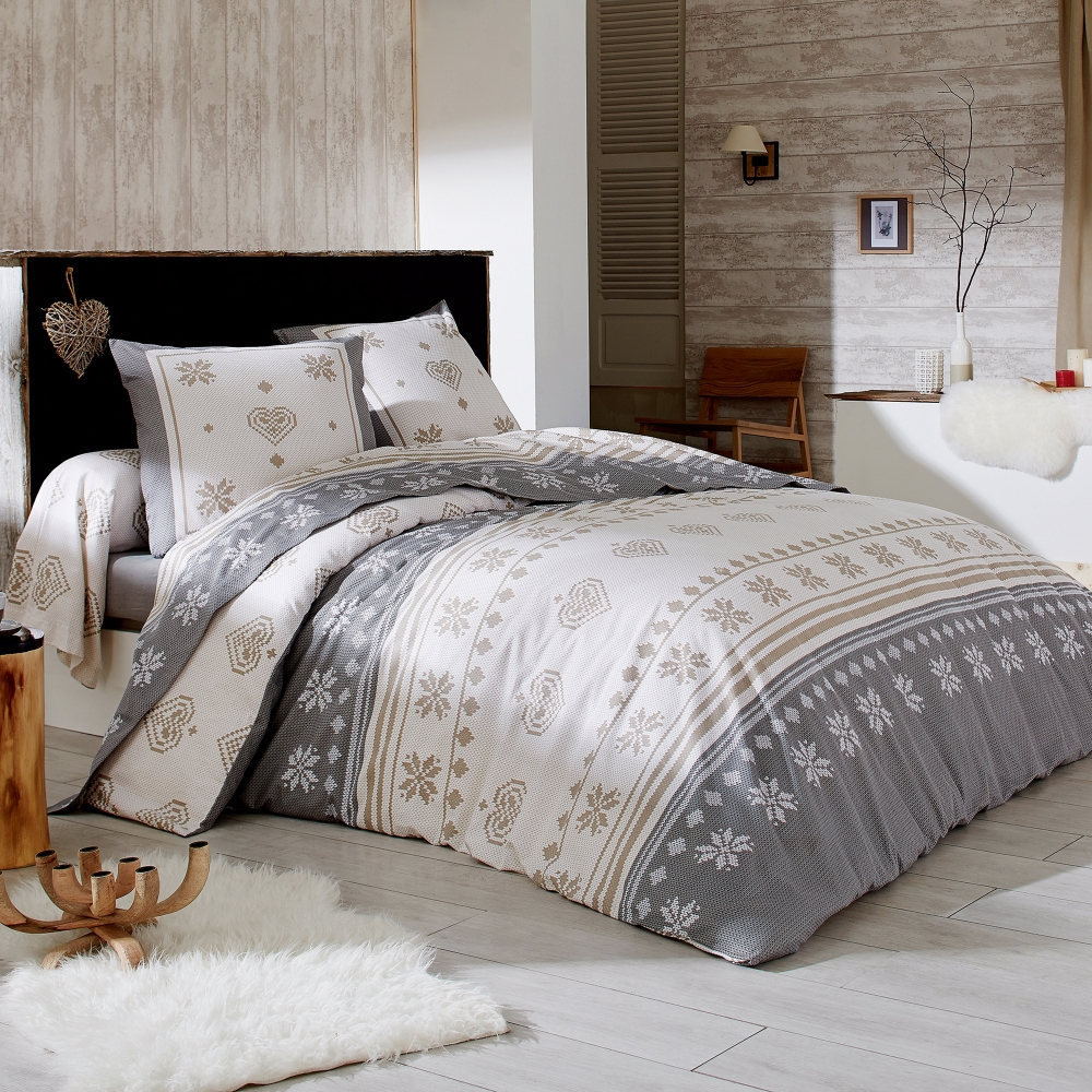 parure de lit shetland flanelle blancheporte. Black Bedroom Furniture Sets. Home Design Ideas