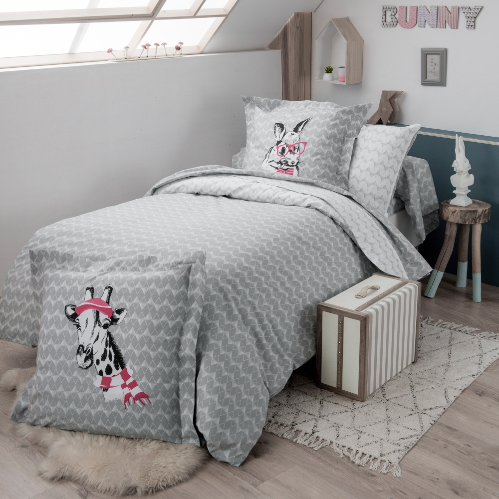 linge de lit bunny coton blancheporte. Black Bedroom Furniture Sets. Home Design Ideas