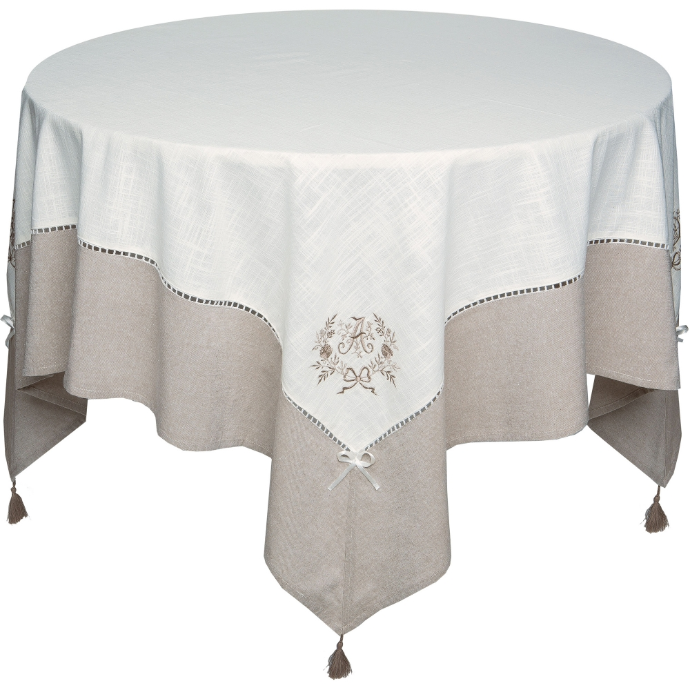Nappe rectangulaire brod e marquise blancheporte - Nappe rectangulaire grande taille ...
