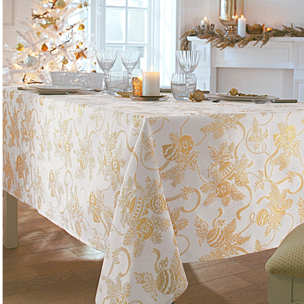 Bonnes affaires linge de table blancheporte - Nappe de table pour noel ...