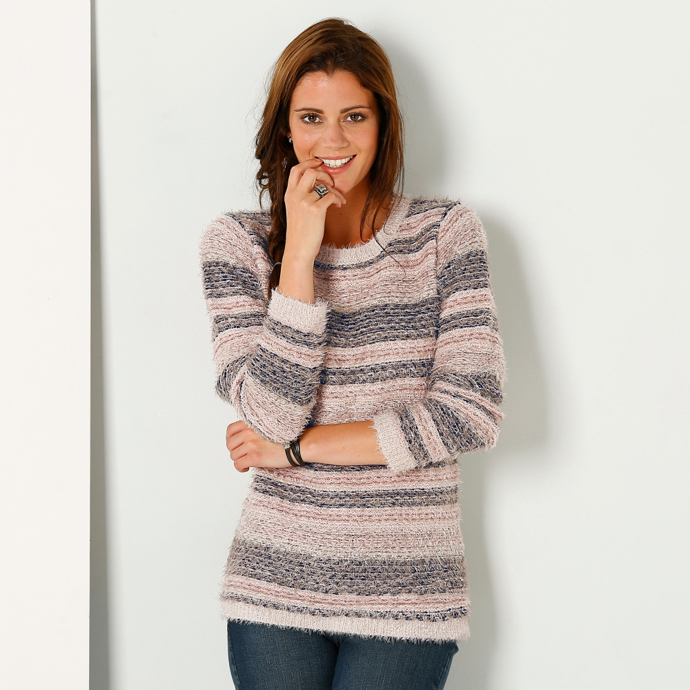 pull maille douceur jacquard blancheporte