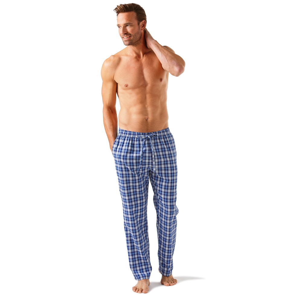 Pantalon pyjama carreaux blancheporte for Pyjama homme carreaux