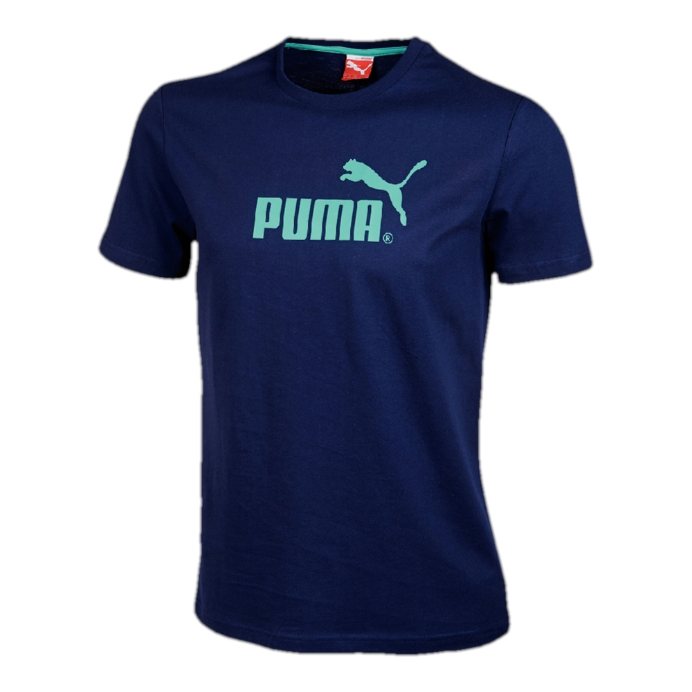 t shirt puma logo bleu marine blancheporte. Black Bedroom Furniture Sets. Home Design Ideas