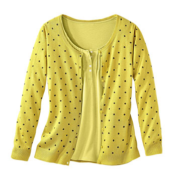 Gilet + Tee-shirt Coloris Anis