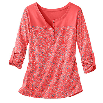 Tee-shirt tunisien Coloris Corail