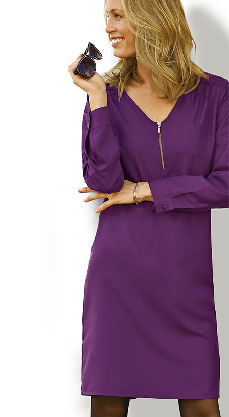 Robe Coloris Prune