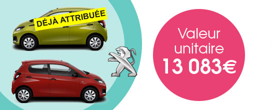 Loterie Exceptionnelle - 2 Peugeot 108 à gagner - Blancheporte
