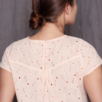Blouse broderie anglaise  : Vue zoom matière