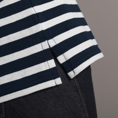 Polo rayé maille jersey  : Vue zoom matière