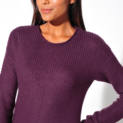 Pull manches longues maille fantaisie  : Vue zoom matière