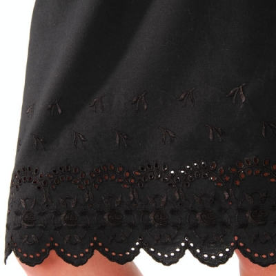 Jupon base broderie anglaise  : Vue zoom matière