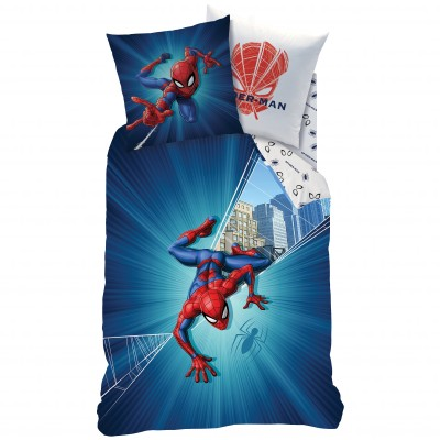 Parure de lit Spiderman City - coton