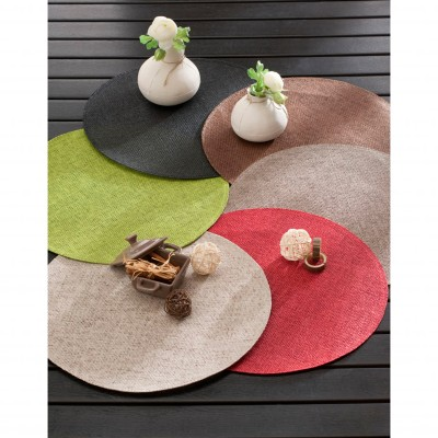 Set de table rond bambou - Lot de 4