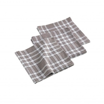 Serviette de table carreaux - Lot de 3