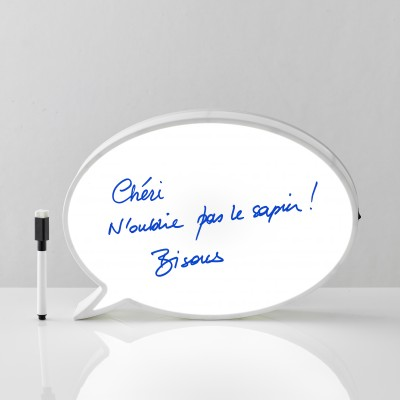 Lampe bulle message + feutre