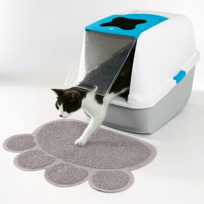 Tapis protection sol empreinte chat