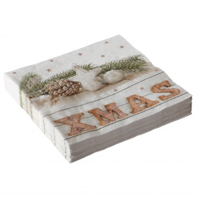 Serviette papier xmas - lot de 20