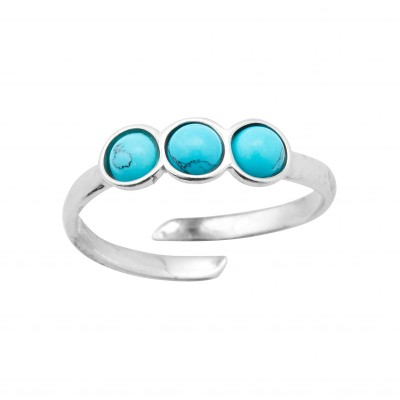 Bague ajustable turquoise