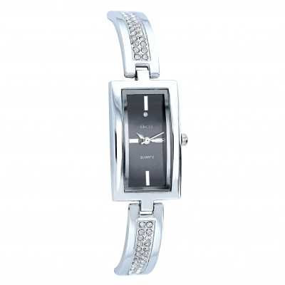 Montre rectangle rigide cristaux SWAROVSKI