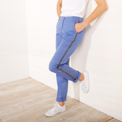 Pantalon galon pailleté