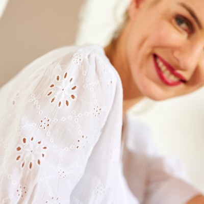 Chemisier broderie anglaise