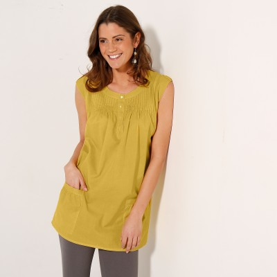 Blouse fleurie col rond