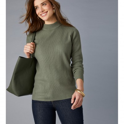 Pull col montant long. 63 cm