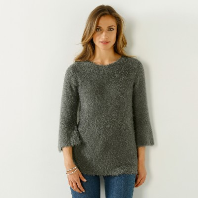 Pull forme boîte maille douceur