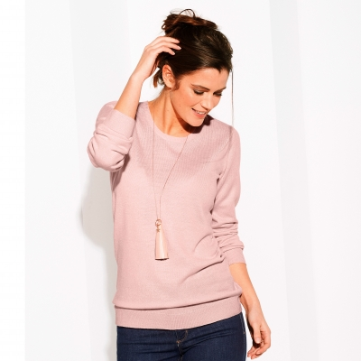 Pull col rond uni