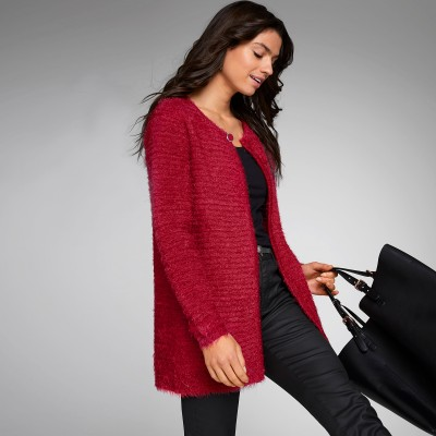 Cardigan long maille douceur