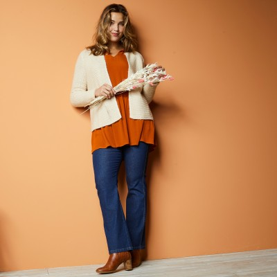 Gilet point mousse - toucher mohair