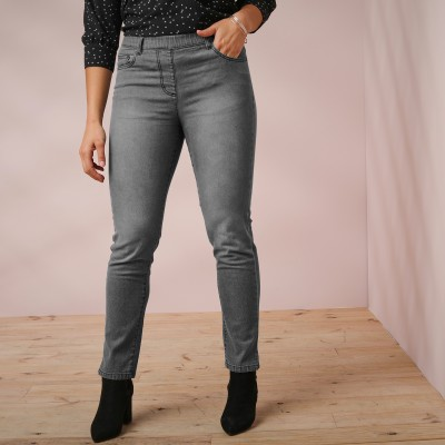 "Jegging denim délavé ""power stretch"""