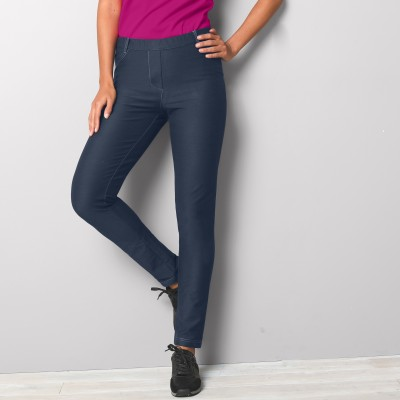 Pantalon legging maille ultra stretch effet denim