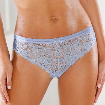 Culotte midi dentelle bordure velours - lot de 2