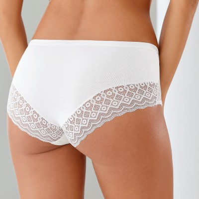 Shorty incrusté de dentelle - Lot de 3