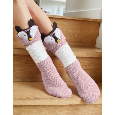 Chaussons-chaussettes cocooning - renard