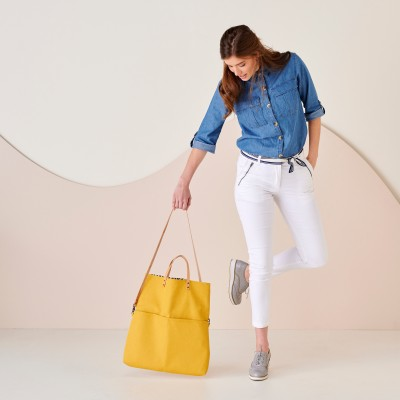 Sac shopping transformable en besace