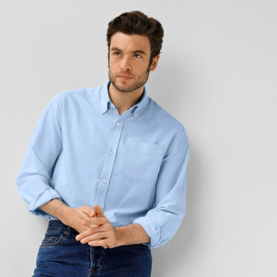 Chemise oxford manches longues