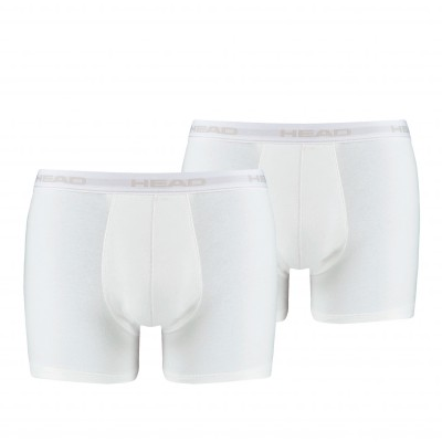 Boxer coton stretch - lot de 2 blanc