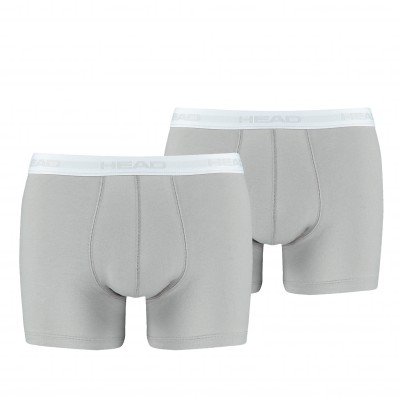 Boxer coton stretch - lot de 2 gris