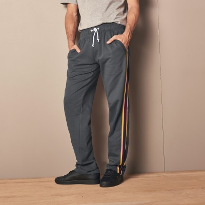 Pantalon jogging molleton bande multicolore