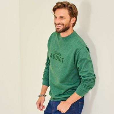 "Sweat molleton fils recyclés ""Green Addict"""