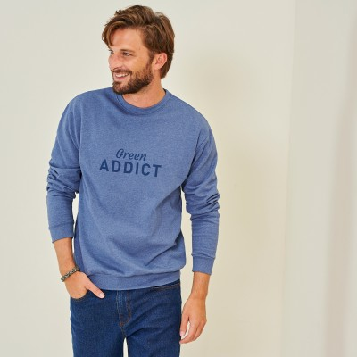 "Sweat molleton gratté fils recyclés ""Green Addict"""