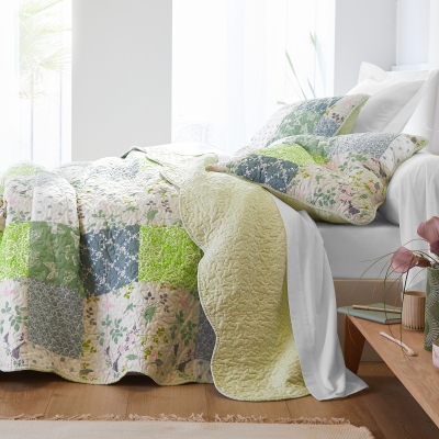 Couvre-lit style boutis patchwork