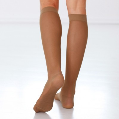 Chaussettes jambes lourdes compression intense - lot de 2 paires Chair: Vue 1