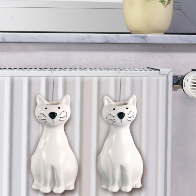 Saturateur chat - lot de 2 Blanc: Vue 1