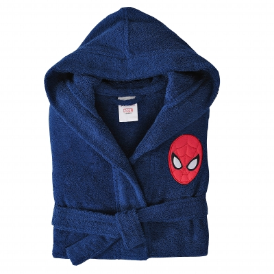 "Peignoir de bain capuche ""Spiderman Peter®"" Bleu: Vue 1"