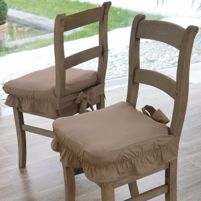 Housse chaise toile bachette Taupe: Vue 1